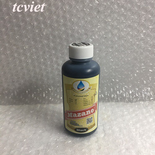 Mực in chuyển nhiệt Pigment UV Mazano - Màu đen - Black